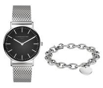 Set Damenuhr und Armband LS-0033-MQB