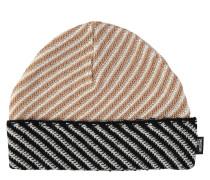 Strickmütze, Woll-Kaschmir-Anteil, Streifen