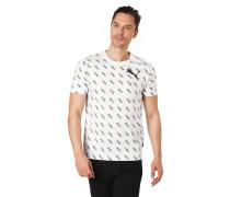 T-Shirt, Logo-Print, Rippblende, Baumwolle