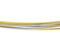 Kette, 10-reihig, Edelstahl, bicolor, DS10.bi.45