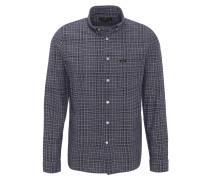 Freizeithemd, Slim Fit, Button-Down-Kragen, Karo-Muster