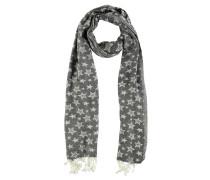 Schal, Sternen-Muster, Fransen