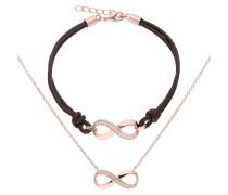 "Collier & Armband ""Infinity"", 2-tlg. Set"