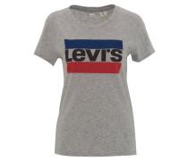 T-Shirt, Marken-Print, Baumwolle