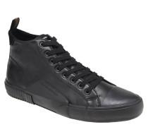 Sneaker, Leder, Schnürung, Struktur-Mix