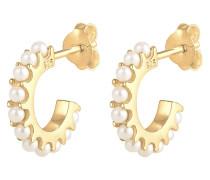 Ohrringe Creolen Perlen Swarovski® Kristalle 925 Silber