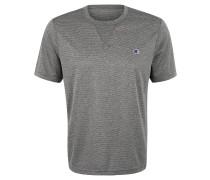 T-Shirt, Logo, meliert, Rundhalsausschnitt