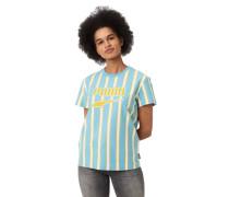 T-Shirt, Streifen, Logo-Print, Bio-Baumwolle