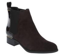 Chelsea Boots, Veloursleder, Lack-Details