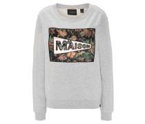 Sweatshirt, meliert, Print, Dschungel-Motiv