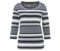 Shirt, 3/4-Arm, gestreift, Nieten, Bio-Baumwolle