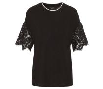 T-Shirt, Ärmel aus Spitze, Rundhalsausschnitt
