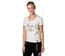 T-Shirt, Front-Print, meliert