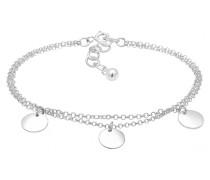Armband Kreis Layer Geo Plättchen 925 Sterling