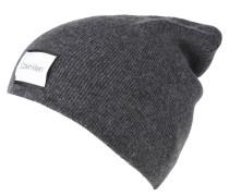 Mütze, mit Wolle, Logo-Patch, uni