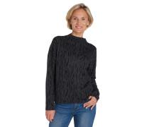 Pullover, mit Wolle, Stehkragen, Animal-Muster