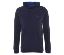 Sweatshirt, Baumwolle, Kapuze, Logo-Stickerei, uni