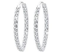 Ohrringe Creolen Swarovski® Kristall Funkelnd 925 Silber