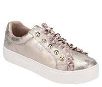 Slipper, Sneaker-Stil, Nieten, Rüschen, Plateau-Absatz