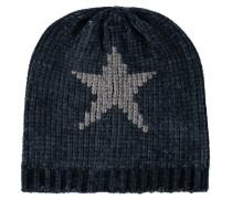 Mütze, Grobstrick, Stern