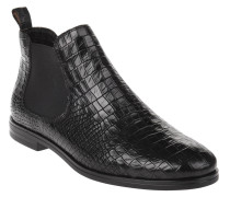 Chelsea Boots, Krokodil-Prägung, Leder