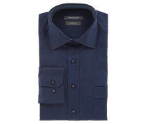 Businesshemd, Comfort Fit, uni, Kent-Kragen, Brusttasche