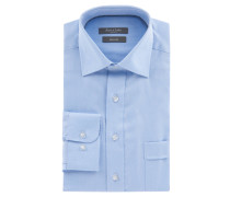 Businesshemd, Comfort Fit, fein gemustert, Brusttasche, Kent-Kragen