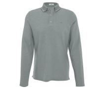 Polo-Shirt, Langarm, Logo-Stickerei, strukturiert