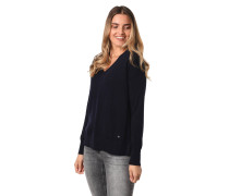 Pullover, V-Ausschnitt, Rippbündchen