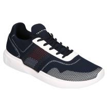 Sneaker, Knit-Optik, Kontrast-Look, Marken-Details, gepolstert