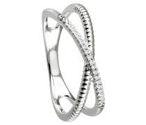 Ring 375 gold mit 17 Diamanten, zus. ca. 0,05 ct.