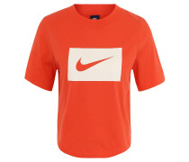 T-Shirt, Oversize, cropped, Logo-Print