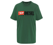 "T-Shirt ""JUST DIVISION"", Rundhals, Logo Print"