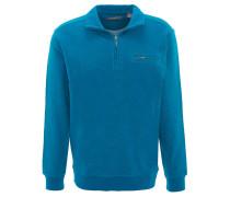 Sweatshirt, meliert, Brusttasche, Rippbündchen, Baumwolle