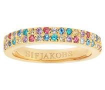 "Ring ""Corte Due""mit bunten Zirkona SJ-R10762-XCZ(YG)"