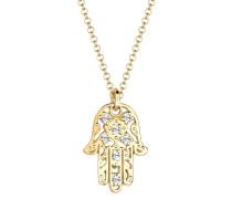 Halskette Hamsa Hand Swarovski® Kristalle Silber