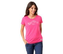 """T-Shirt """"STACY"""", Marken-Print, Baumwoll-Mix"""