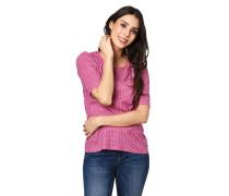 Shirt, Halbarm, geometrischer Allover-Print