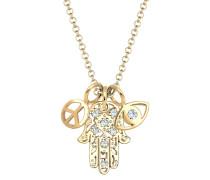 Halskette Hamsa Peace Evil Eye Swarovski® Kristalle
