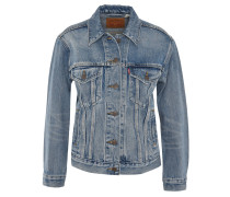 Jeansjacke, Relaxed Fit, Waschung, Baumwolle