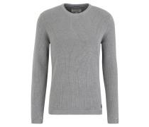 Pullover, Strick, Baumwolle, gerippte Abschlüsse