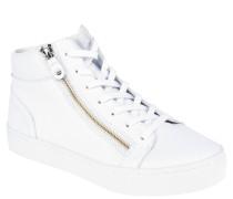 Sneaker, Glattleder, Reißverschluss, uni