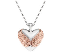 Kette With Love special 925er-Sterlingsilber rhodiniert, rosé plated, 21 mm