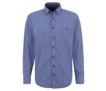 Freizeithemd, Regular Fit, Button-Down-Kragen, gestreift, Brusttasche