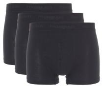 Pants, 3er-Pack, uni, elastische Baumwolle