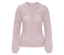 Pullover, mit Wolle, Strass, Lochmuster, uni