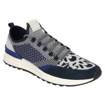 Sneaker, Jacquard-Muster, Knit-Optik, Veloursleder-Detail