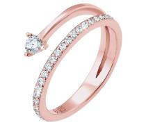 Ring Pfeil Zart Zirkonia Swarovski® Kristalle Silber