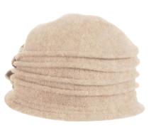 Hut, Wolle, Blumen-Applikation, Falten