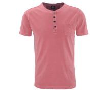 T-Shirt, uni, Henley-Ausschnitt, Brusttasche